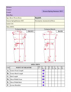 technical drawing of dress,dress tech pack,measurements of dress,