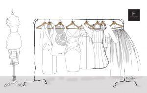 illustration of sart_a_clothing_line_freelance fashion designer,,project runway designer