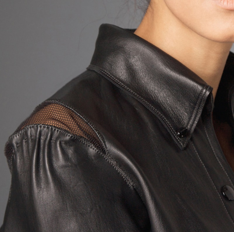 leather by freelance fashion designer.nyc