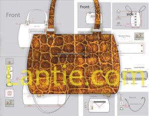 apparel design tech pack,bag,illustration,part of tech packs.