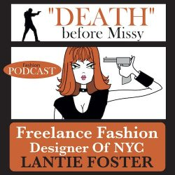 freelance fashion podcast,lantie foster, logo of freelance fashion podcast on iTunes