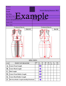 tech packs for apparel design,technical design,cad_flat_dress.