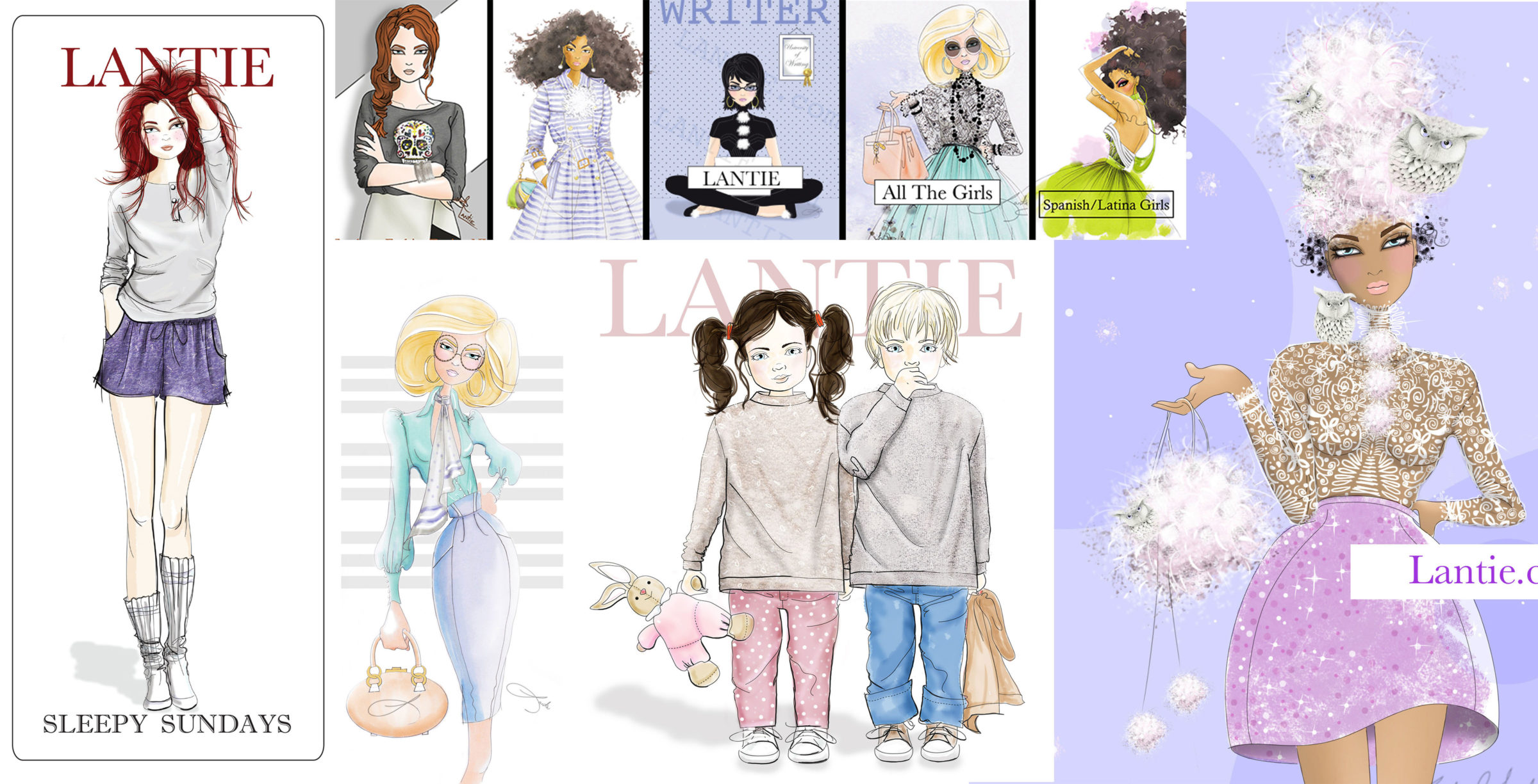 fashion illustrations, editorials, freelance illustrator,Lantie Foster,nyc,freelance fashion artist
